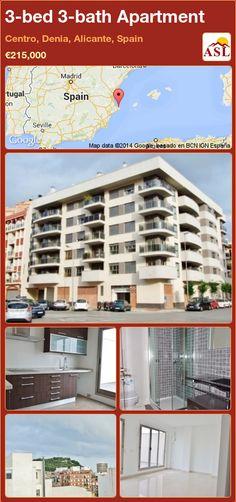 3-bed 3-bath Apartment in Centro, Denia, Alicante, Spain ►€215,000 #PropertyForSaleInSpain