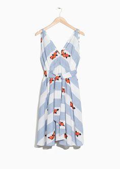 & Other Stories image 1 of V-neck Dress in Flower Print