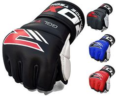 RDX Cow Hide Leather MMA Grappling, Cage Fighting UFC Sparring Gloves