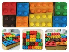 Now the LEGO® cake is ready and it can be seen (Cool Diy Food) cake decorating recipes kuchen kindergeburtstag cakes ideas Lego Ninjago, Ninjago Party, Lego Torte, Bolo Lego, Zoe S, Fruit And Vegetable Storage, Lego Birthday, Birthday Cake, Food Humor