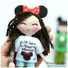 18cm felt art doll to look like you or your loved ones. Beautiful keepsake.