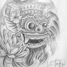 Barong Mask Drawing