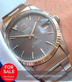Tudor Oyster Prince Day Date oftheday Retro Watches, Antique Watches, Vintage Watches, Cool Watches, Watches For Men, Watch Companies, Watch Brands, Tudor Bronze, Prince Day