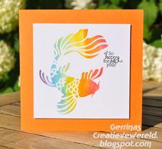 Gerrina's Creatieve Wereld: Regenboogvis / Rainbowfish