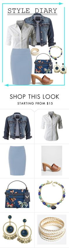 """Pencil Skirt & Button Down"" by cirlylocks ❤ liked on Polyvore featuring maurices, Peserico, Valentino, Roberto Cavalli and ZooShoo"