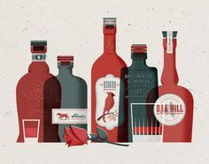Bourbon Whiskey Print by Downtime Collective / Nick Matej
