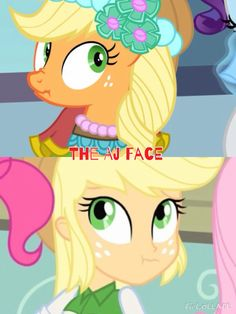 The aj face in eg and mlp.