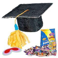 Graduation Cap Pinata Kit | Individual Decorations & Supplies for Parties and Events