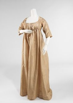 Wedding ensemble (image 2)   American   1808   silk, cotton, metal, ivory   Brooklyn Museum Costume Collection at The Metropolitan Museum of Art   Accession Number: 2009.300.1436a–g