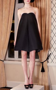 Katie Ermilio - Box Pleat Mini Dress (so cute in white for rehearsal dinner and/or dancing night-of)  $2250