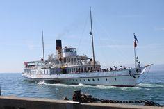 S/S Rhône - ABVL | Association des amis des bateaux à vapeur du Léman Motor Yachts, Paddle Boat, Classic Motors, Rc Model, Rhone, Sailing Ships, Diesel, Boats, Europe