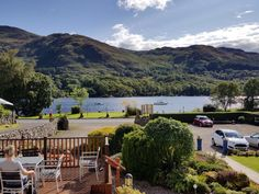 Sunshine over Loch Earn from Achray House deck