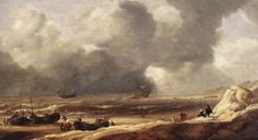 Jan Porcellis. (Shipwreck off the Coast, 1631 Mauritshuis1226×665)