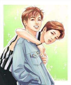 BTS Fanart || Jeon Jungkook & Park Jimin (Jikook) | NOW3 Insp.
