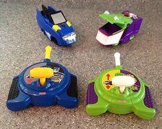 Fisher-Price-GeoTrax-Batmobile-Joker-Car-w-Remote-Controls-Batman-Make-Offer 50.00