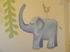 Elephant Mural for nursey