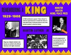 Make a Poster Aabout Dr. Martin Luther King Jr. | History Project Poster Ideas