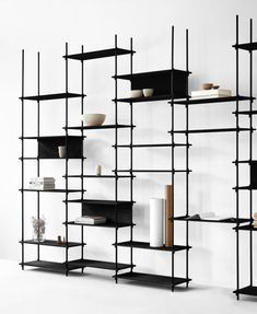 Five Scandinavian Furniture Pieces You Need In Your Home From MOEBE Five Scandinavian Furniture Piec Shelving Design, Bookshelf Design, Bookshelves, Bookcase, Wall Shelving Systems, Shelving Display, Metal Furniture, Repurposed Furniture, Living Room Furniture