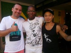 Mestre Sucuri, Foguete do Okinawa and Professor Linguica... home team.