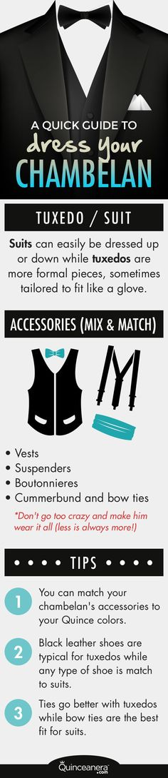 Have your main guy looking extra dapper by learning what your options are to dress your chambelan. - See more at: http://www.quinceanera.com/dresses/a-quick-guide-to-dress-your-chambelan/#sthash.JdlnaM1C.dpuf