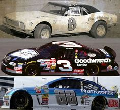 3 Generations of Earnhardts - Ralph, Dale Sr. Nascar Race Cars, Nascar Sprint Cup, The Intimidator, Football Memes, Nascar Memes, Truck Memes, Dale Earnhardt Jr, Vintage Race Car, Manila