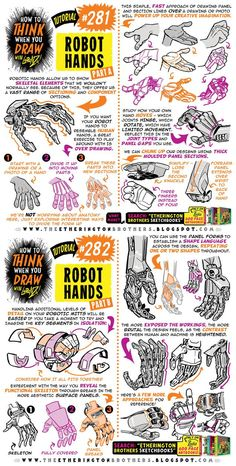 How to THINK when you draw ROBOT HANDS tutorial! by EtheringtonBrothers on DeviantArt - therezepte sites Digital Painting Tutorials, Digital Art Tutorial, Art Tutorials, Drawing Techniques, Drawing Tips, Drawing Reference, You Draw, How To Draw Hands, Art Sketches