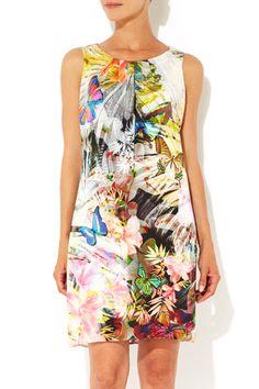 Butterfly Print Shift Dress #WallisFashion