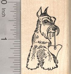Schnauzer Dog Rubber Stamps (RubberHedgehog.Com)
