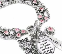 Birthstone Sister Jewelry - Sister Charm Bracelet - Personalized Siste - Blackberry Designs Jewelry