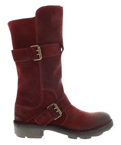 This Wine Oil Suede Naio Leather Boot - Women is perfect! #zulilyfinds