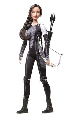Mattel® Barbie® Collector The Hunger Games: Catching Fire Katniss Everdeen Doll – Discontinued by Manufacturer Barbie I, Barbie World, Barbie And Ken, Malibu Barbie, The Hunger Games, Hunger Games Catching Fire, Barbie Fashionista, Katniss Everdeen, Tribute Von Panem