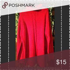 Women's global gold full length body sweater/NWOT Women's red large Cabelling body sweater. Plush and beautiful by global gold. NWOT global gold  Sweaters Crew & Scoop Necks