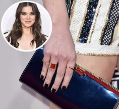 Hailee Steinfeld Red Carpet AMA 2015 Nails