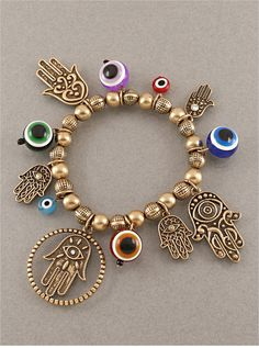 Hamsa & Evil Eye Charm Bracelets from P.S. I Love You More Boutique