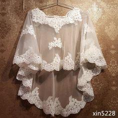 Bridal Bolero, Lace Bolero, Bridal Lace, Bolero Jacket, Beaded Cape, Wedding Dresses For Kids, Wedding Shawl, Ivory Wedding, Tulle Wedding