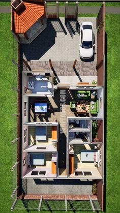 3d House Plans, Model House Plan, Small House Floor Plans, House Layout Plans, Home Design Floor Plans, Family House Plans, House Blueprints, Dream House Plans, House Layouts