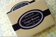 Olive Oil Soap - Ginger Blossom....pure essential oil fragranced cold process bar (our best selling scent). $8.00, via Etsy.