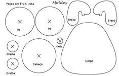 moldes de ursinhos em eva 3