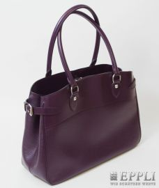 "LOUIS VUITTON Model ""Passy"" luxurious handbag. From the Series Epi Leather, purple colored structure leather, silver colored fittings, company logo, Snap closure, Internal coin pocket with Very SEXY MODEL! Starting Bid: € 780.00"