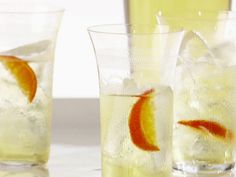 Orangecello recipe from Giada De Laurentiis via Food Network- use ikea bottles, sub pelligrino for non-alcoholic version