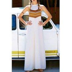 trendsgal.com - Trendsgal Round Neck Stripes Sleeveless Dress - AdoreWe.com