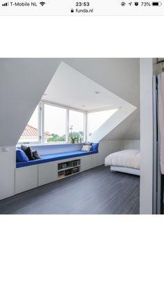 Attic Bedroom Designs, Attic Rooms, Living Place, Loft Room, Scandinavian Home, Joanna Gaines, New Room, Master Bedroom, New Homes