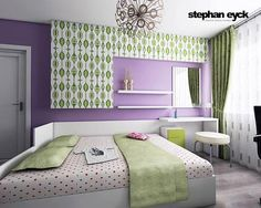 Not On The Green Pattern But Color Is A Nice Contrast Purple