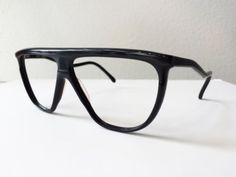 NOS Unused 1980s Vintage ULTRA Laguna Black Eyeglasses Frames Italy
