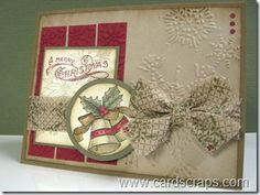 bells and boughs stampin up retired fabric (on clearance rack)