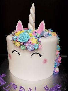 Rainbow Birthday Unicorn Cake Party Unicorns