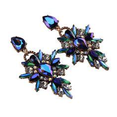 Item specifics Earring Type:Drop Earrings Item Type:Earrings Fine or Fashion:Fashion Material:Acrylic Metals Type:Zinc Alloy Style:Romantic Gender:Women Shapep