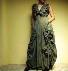 Helen...Dark Green mix silk (S-XL). $56.00, via Etsy.