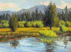 """Daily Paintworks - """"Taylor Creek"""" - Original Fine Art for Sale - © Barbie Smith"""