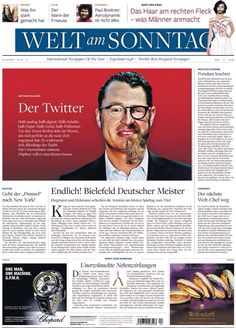 Welt am Sonntag Newspaper , Germany, for Kai Diekmann